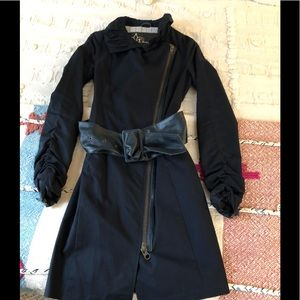 Mackage trench midnight blue coat Sz XS